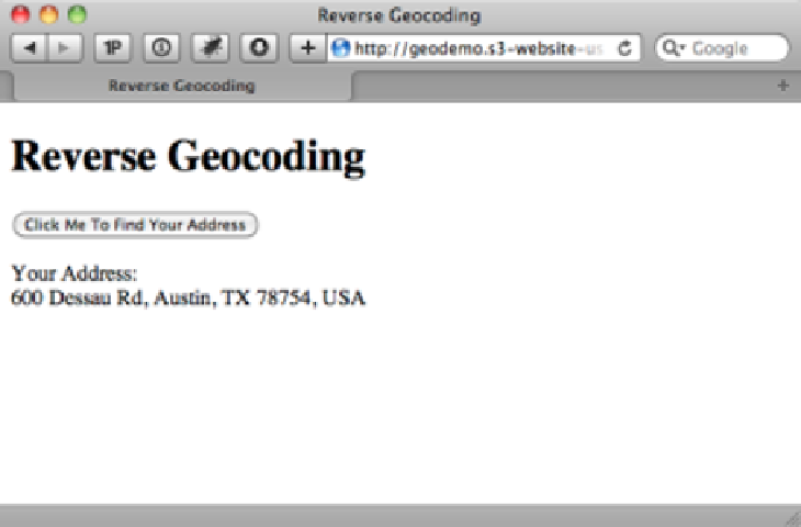 Geolocation - HTML5 - page 167