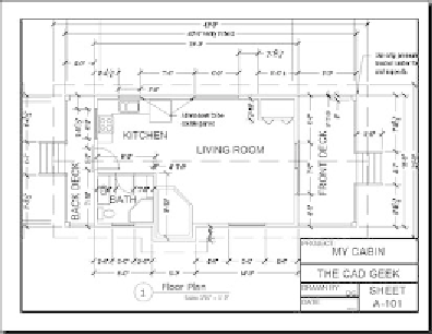 Cabin Cad Drawing