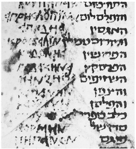 Yevanic square script in a Hebrew-Greek glossary of the tenth century c.e.