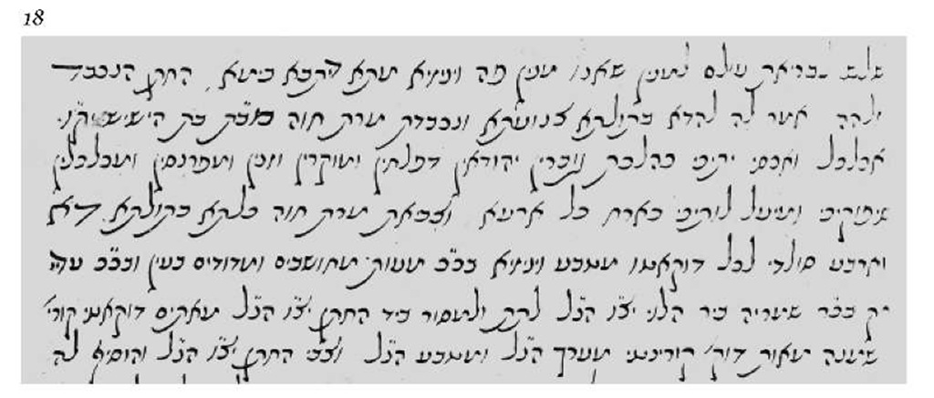 Marriage deed printed in Sephardic mashait script.