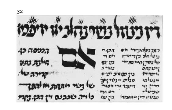 Extract from Isaac Duerens Issur ve-Hetter in Ashkenazic mashait script, 1477.