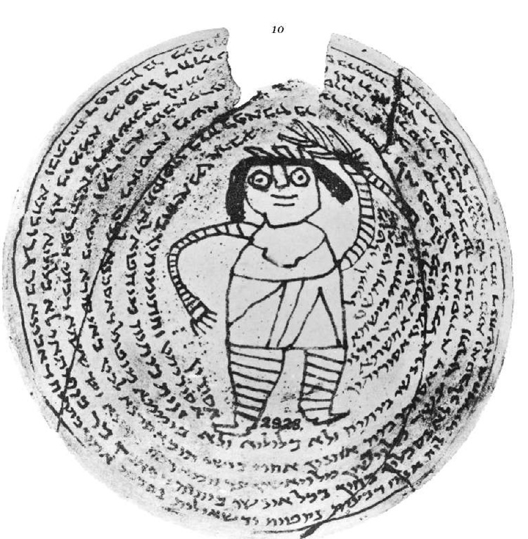 Babylonian cursive script on an incantation bowl of the fifth-sixth century c.E. Ibid. Figure 187.