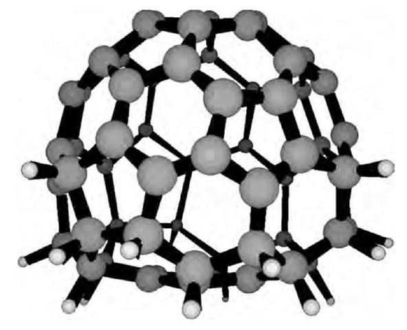 The structure of C60H18.