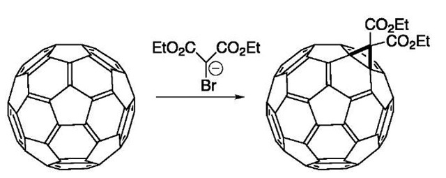 Cyclopropanation of C60.