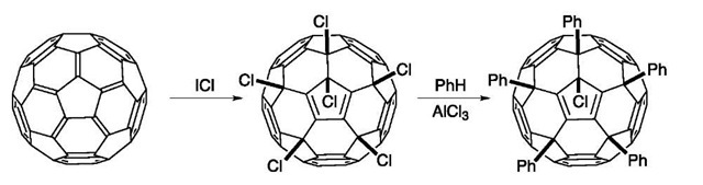 Preparation and reactions of C60Cl6.