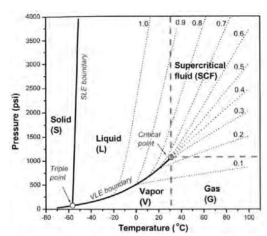 microweighing in supercritical carbon dioxide part 1