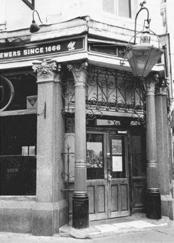 A close-up of the entrance to the Ten Bells public house. Mary Jane Kelly passed through this very door, and so might have Jack the Ripper!
