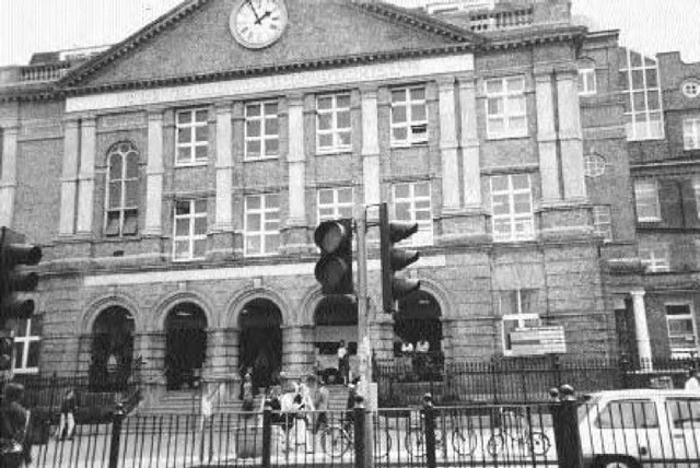 """The London Hospital, as it is today. This is where the parcel containing the Lusk kidney and the accompanying """"From Hell"""" letter were taken for examination. It is also where the later letter to Dr. Openshaw was sent. See the """"Letters and Correspondence"""" section for a full discussion of these items and illustrations of both."""