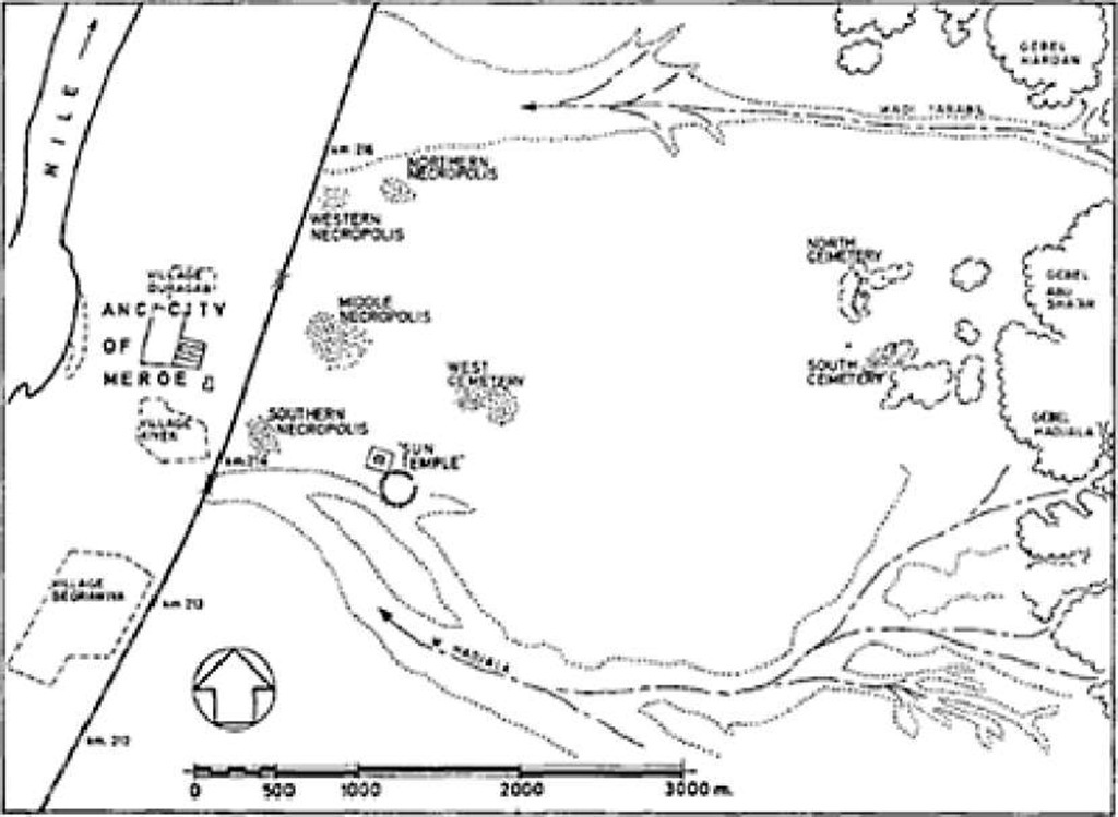 Plan of the site of Meroe and its cemeteries