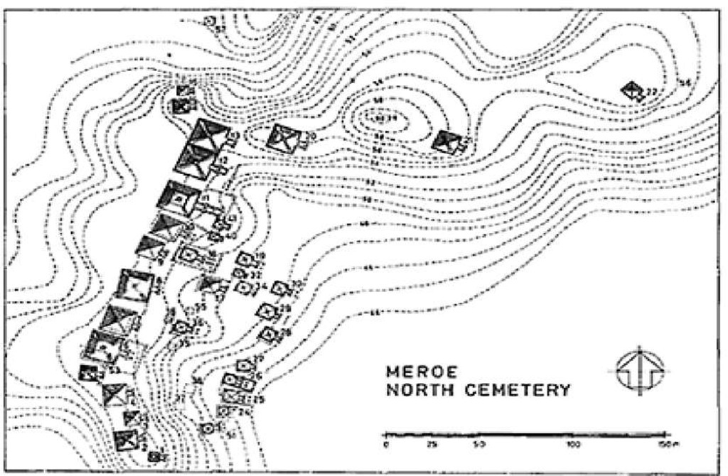 "Plan of the Northern ""Royal Cemetery"" (Beg N) at Meroe"