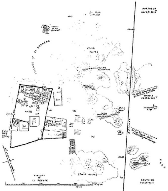 Map of the city of Meroe