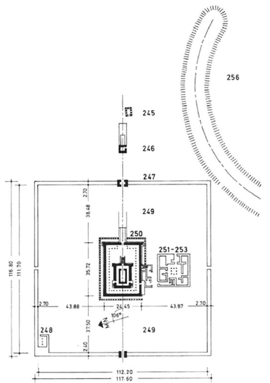 "Plan of the ""Sun Temple"" complex at Meroe"