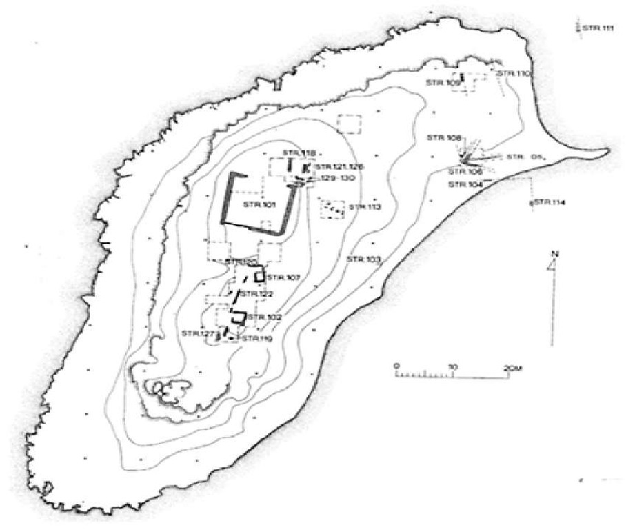 Plan of structures on Bates's Island, Marsa Matruh