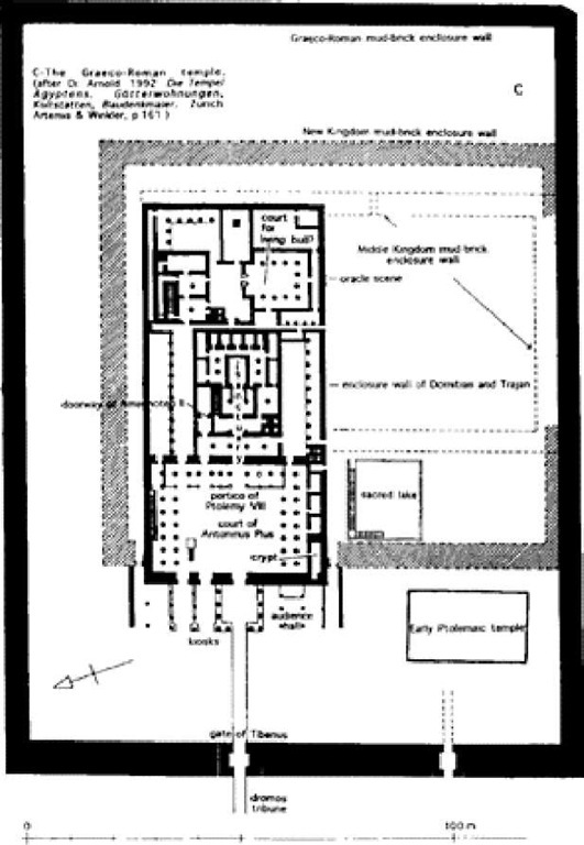 Medamud: plan of the Graeco-Roman period temple