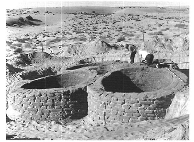 North Sinai, granary at New Kingdom site BEA-10