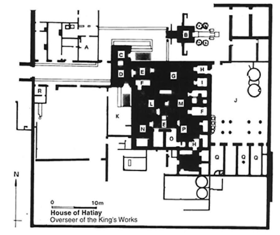 Tell el amarna cult temples to tell basta archaeology of ancient tell el amarna plan of the house of hatiay overseer of the kings ccuart Choice Image