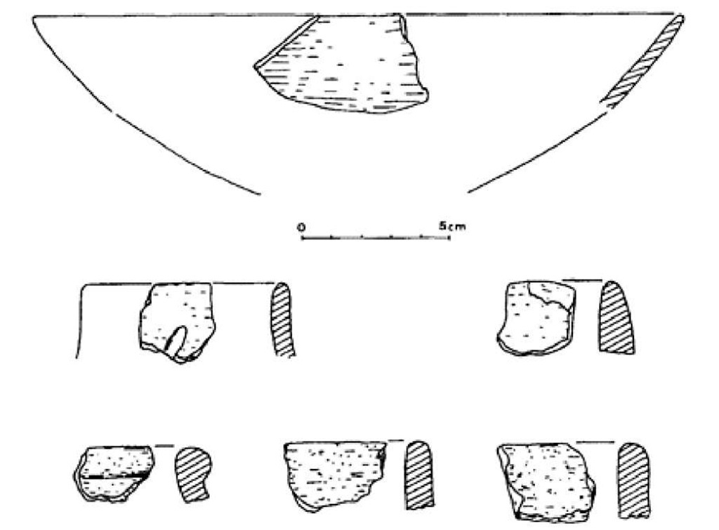 Thebes, el-Tarif, potsherds from the Tarifian layer, sixth millennium BC