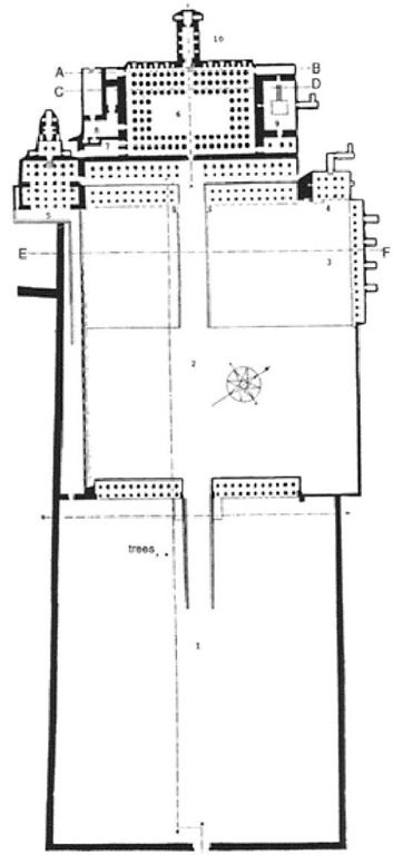 Plan of Queen Hatshepsut's temple, Deir el-Bahri