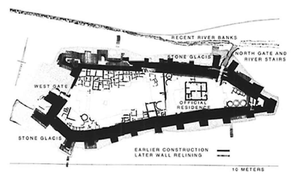 Plan of the Nubian fort at Dorginarti, Levels III and IV