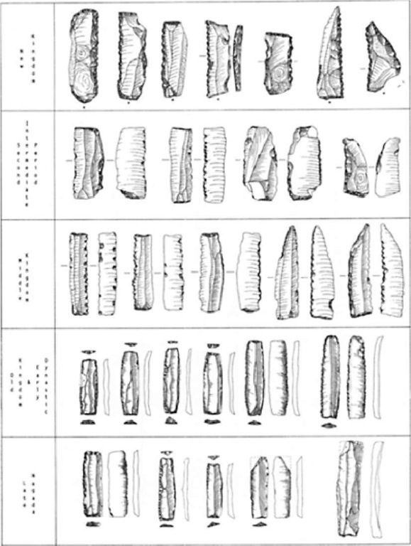 Dynastic stone blades, late Predynastic to New Kingdom