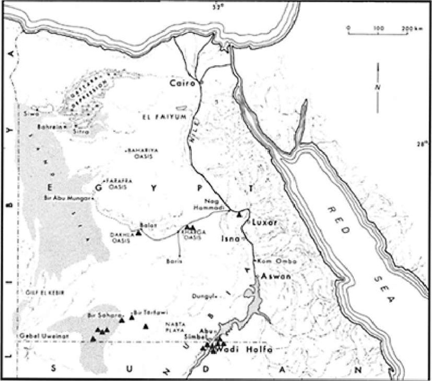 Locations of published Lower Paleolithic sites