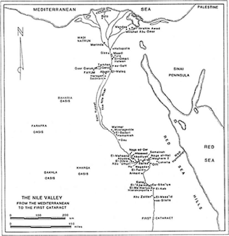 Predynastic sites in Egypt