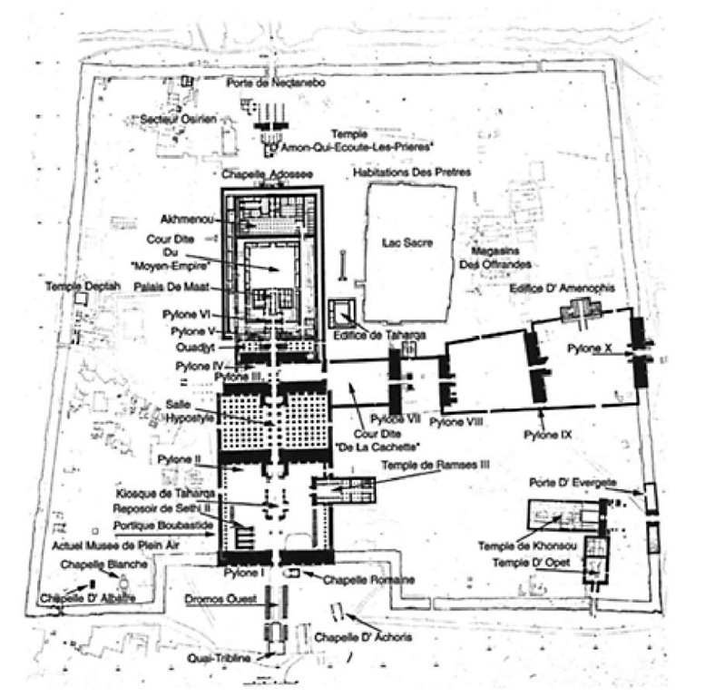 Plan of the temple of Amen-Re, Karnak