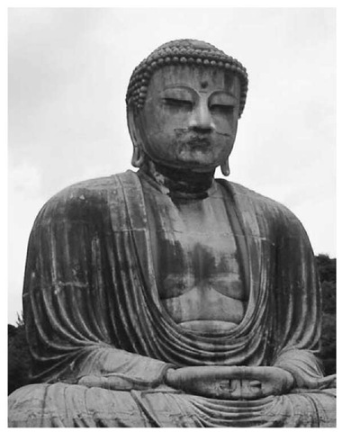 The Great Buddha, or Daibutsu, bronze statue at Kamakura, Japan
