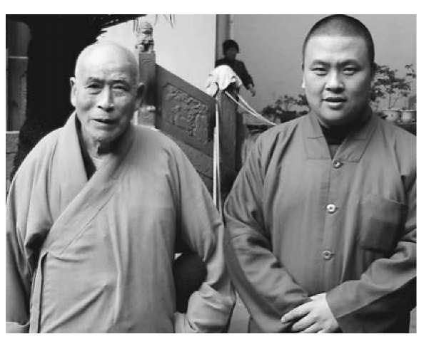 Two generations of monks in a temple in Wenzhou, on China's eastern seaboard