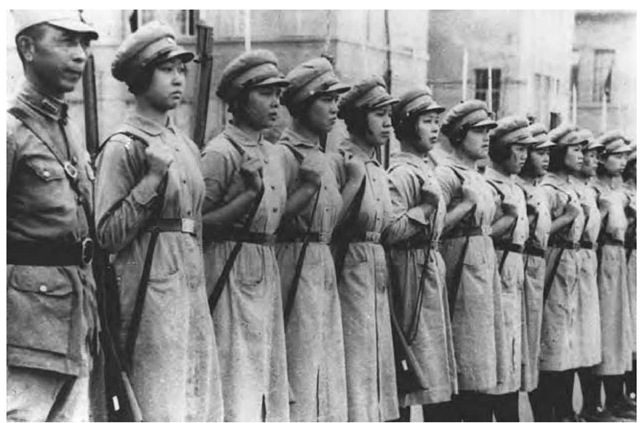 Women's Defense Corps training at Canton, China, 1938.