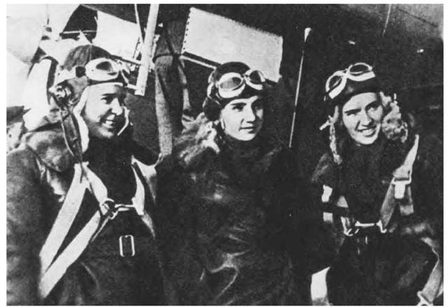 Polina Osipenko, Valentina Grizodubova, and Marina Raskova.