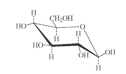 All-equatorial structure of j-D-glucose.