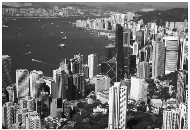 Concurrent with the rise of technology is the growth of cities, such as Hong Kong, China, above. One of the principal causes of increased atmospheric heat is the presence of cities, especially large cities, across most of the inhabited world.
