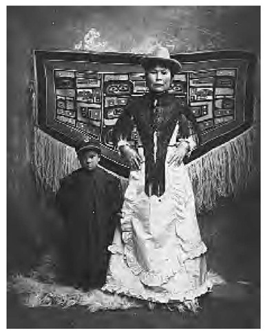 Unidentified woman and child. The photographers' active studio in Juneau, Alaska, catered to both Indians and non-Indians.