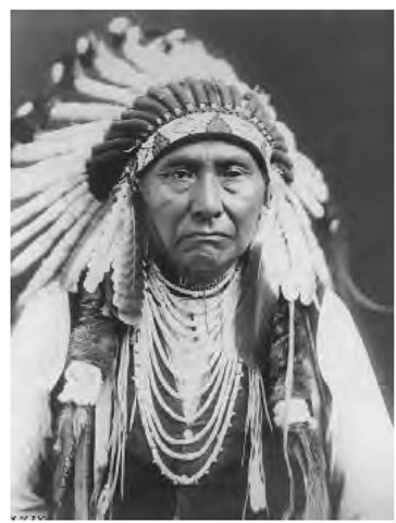 Chief Joseph, legendary spokesman for the united bands of the Nez Perce (1903).