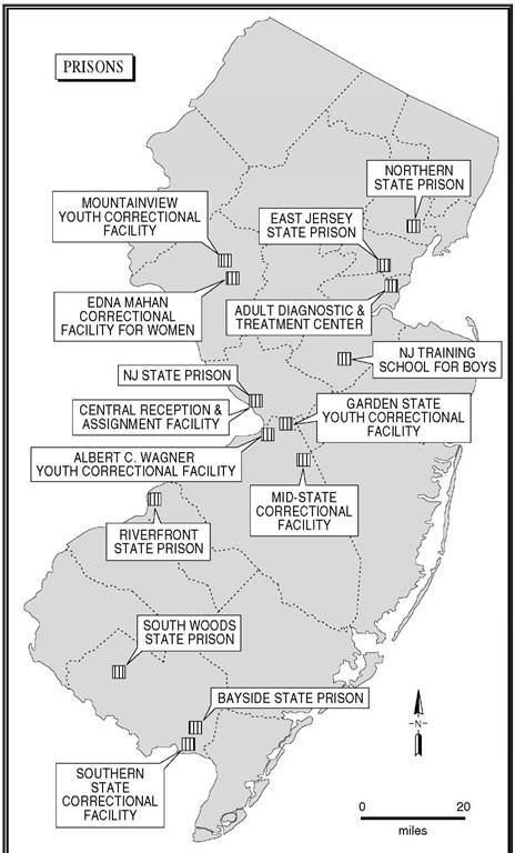 Princeton Township To Prisons New Jersey