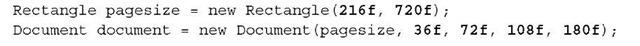 Listing 1.2 HelloWorldNarrow.java