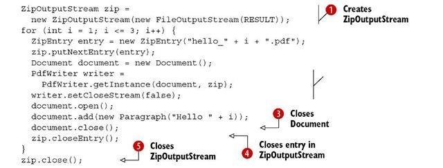 Listing 1.13 HelloZip.java