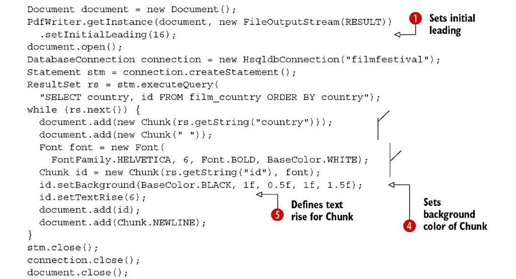 Listing 2.2 CountryChunks.java