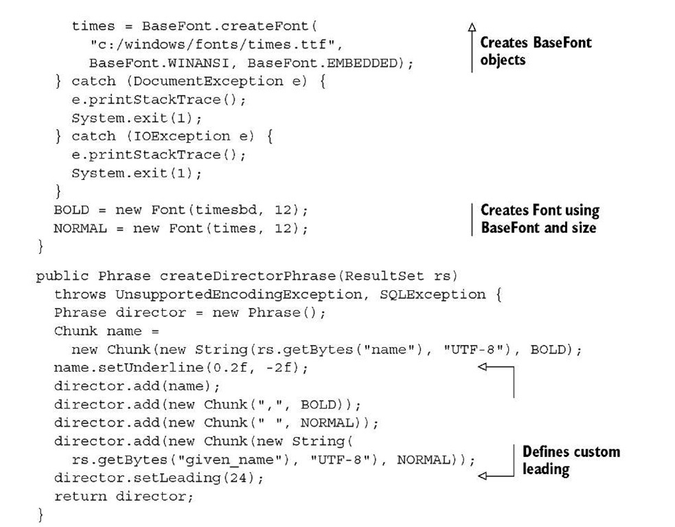 Listing 2.5 DirectorPhrases2.java