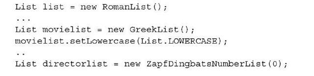Listing 2.15 MovieLists3.java