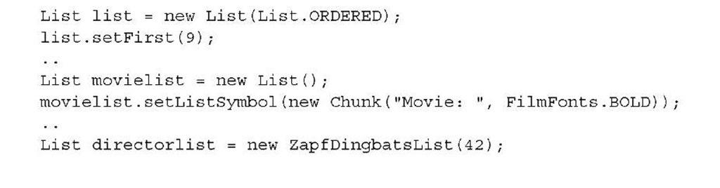 Listing 2.16 MovieLists4.java