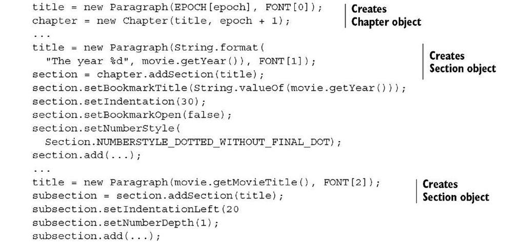 Listing 2.24 MovieHistory.java
