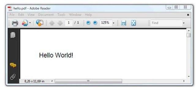 """A """"Hello World"""" PDF"""