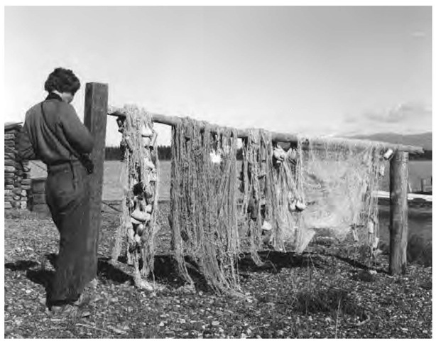Fishing remains one of the Tahltan Indian's economic staples. These nets are hung out to dry along the Stikine River.