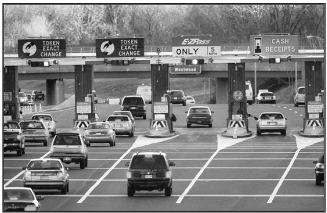 Garden State Parkway Pascack Valley toll plaza.