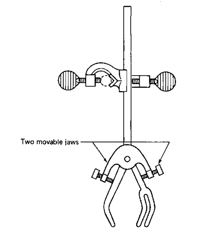 The three-fingered clamp with clamp fastener.