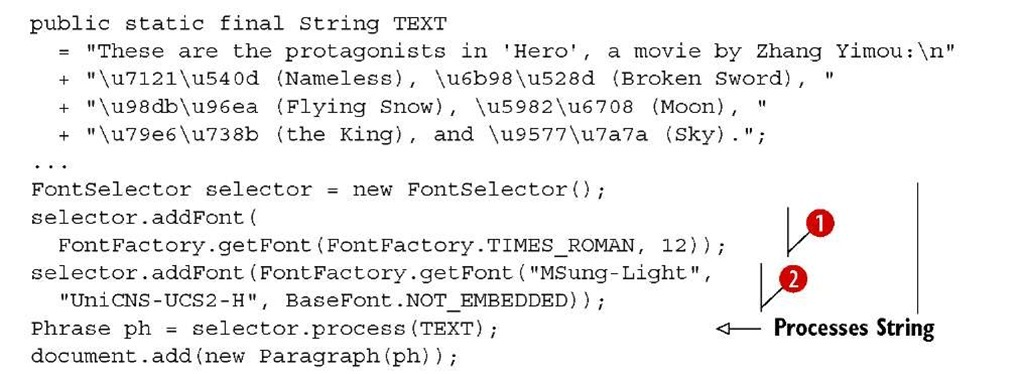 Automating font creation and selection (iText 5)
