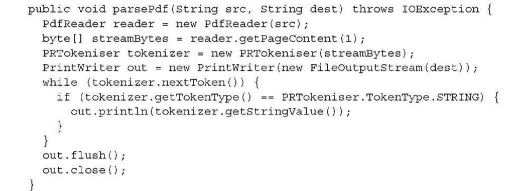 Parsing PDFs Part 1 (iText 5)