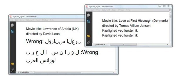 How to add arabic to pdf with itext in java